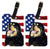 Buy this Pair of USA American Flag with Tibetan Mastiff Luggage Tags SS4039BT