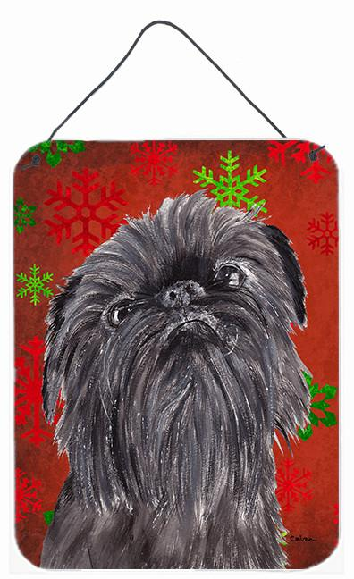 Brussels Griffon Red Snowflake Christmas Wall or Door Hanging Prints by Caroline's Treasures