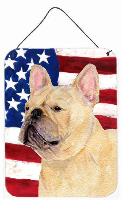 Buy this USA American Flag with French Bulldog Wall or Door Hanging Prints