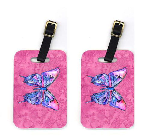 Buy this Pair of Butterfly on Pink Luggage Tags