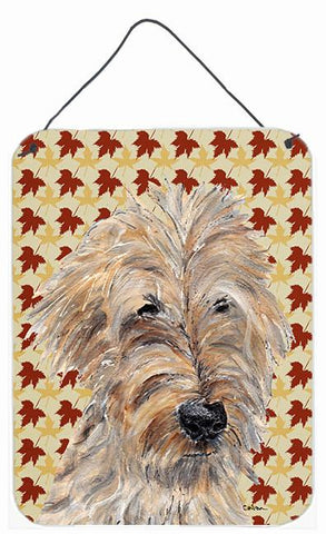 Buy this Goldendoodle Fall Leaves Aluminium Metal Wall or Door Hanging Prints