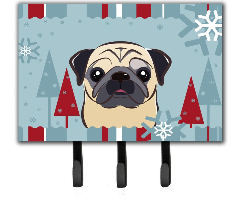 Buy this Winter Holiday Fawn Pug Leash or Key Holder BB1758TH68