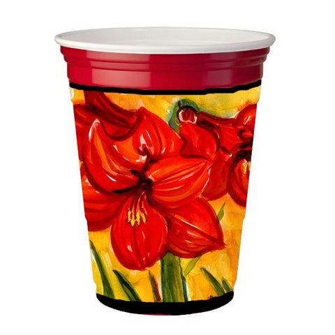 Buy this Flower - Amaryllis Red Solo Cup Beverage Insulator Hugger