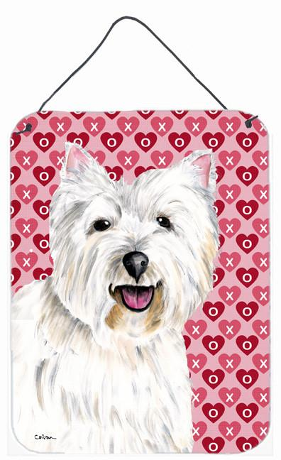 Westie Hearts Love and Valentine's Day Portrait Wall or Door Hanging Prints by Caroline's Treasures