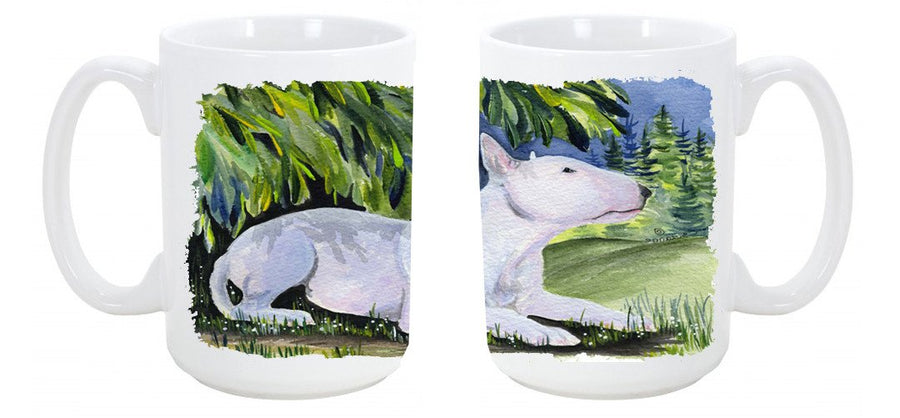 Buy this Bull Terrier Dishwasher Safe Microwavable Ceramic Coffee Mug 15 ounce SS8266CM15