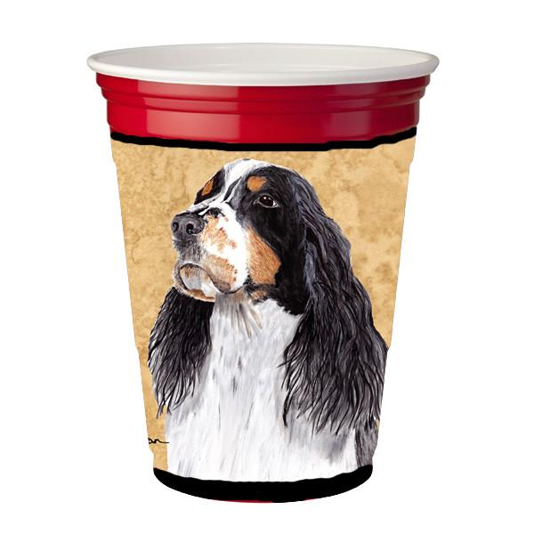 Springer Spaniel Red Solo Cup Beverage Insulator Hugger by Caroline's Treasures