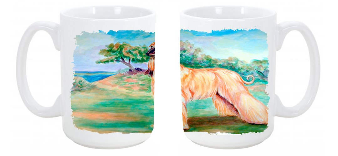 Afghan Hound Dishwasher Safe Microwavable Ceramic Coffee Mug 15 ounce 7138CM15 by Caroline's Treasures