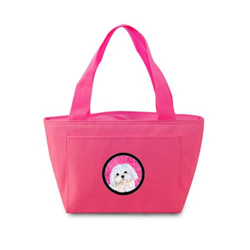 Pink Maltese  Lunch Bag or Doggie Bag SS4758-PK by Caroline's Treasures