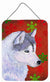 Buy this Siberian Husky Red Snowflakes Holiday Christmas Wall or Door Hanging Prints