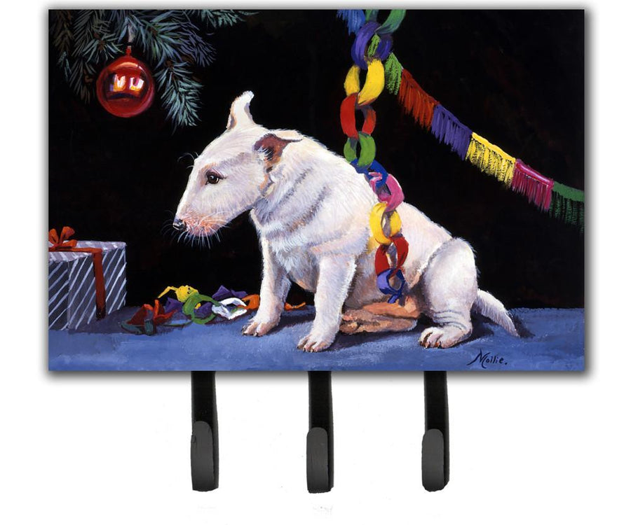 Buy this Bull Terrier under the Christmas Tree Leash or Key Holder FMF0012TH68