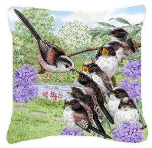 Buy this Long Tailed Tits by Sarah Adams Canvas Decorative Pillow ASAD0690PW1414