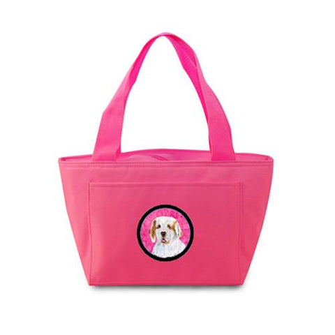 Buy this Pink Clumber Spaniel  Lunch Bag or Doggie Bag SS4776-PK