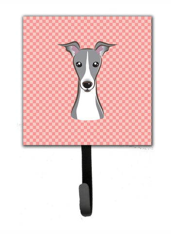 Buy this Checkerboard Pink Italian Greyhound Leash or Key Holder BB1236SH4