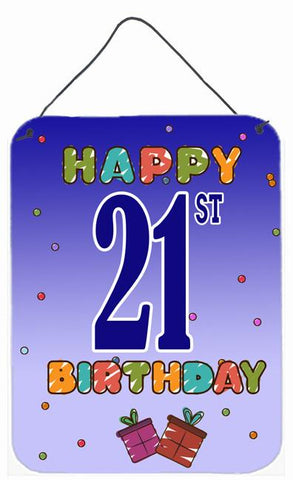 Buy this Happy 21st Birthday Wall or Door Hanging Prints CJ1121DS1216