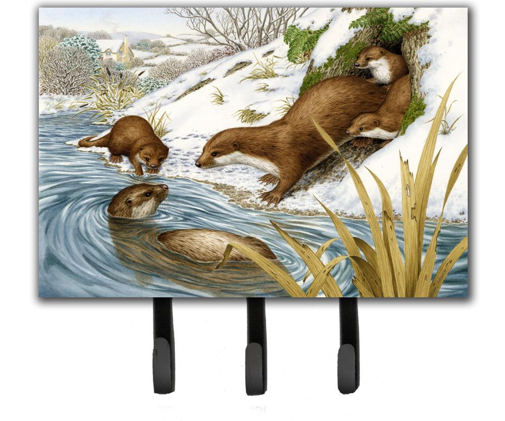Playtime Otters Leash or Key Holder ASA2186TH68 by Caroline's Treasures