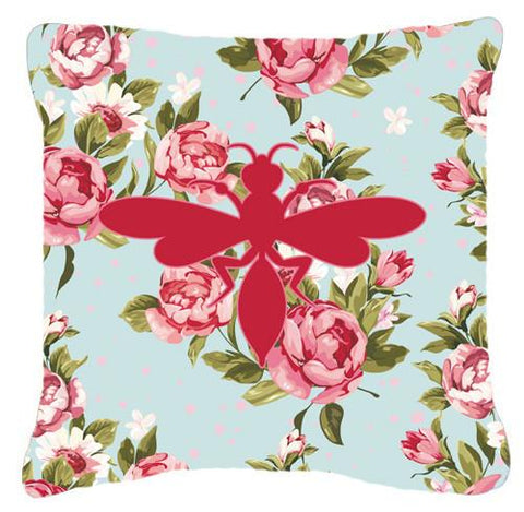 Buy this Wasp Shabby Chic Blue Roses   Canvas Fabric Decorative Pillow BB1054