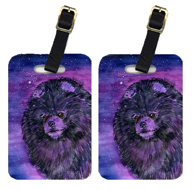 Starry Night Pomeranian Luggage Tags Pair of 2 by Caroline's Treasures