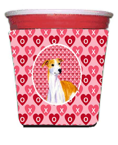 Buy this Whippet Valentine's Love and Hearts Red Solo Cup Beverage Insulator Hugger