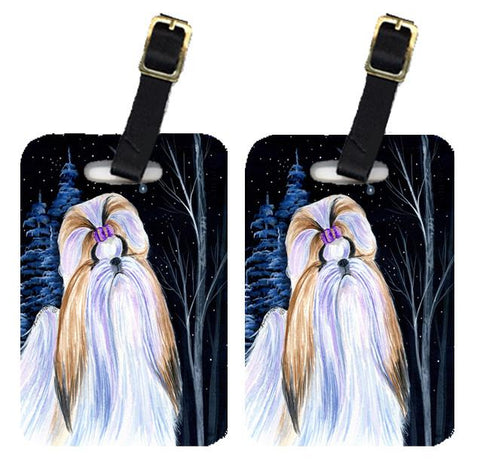 Buy this Starry Night Shih Tzu Luggage Tags Pair of 2