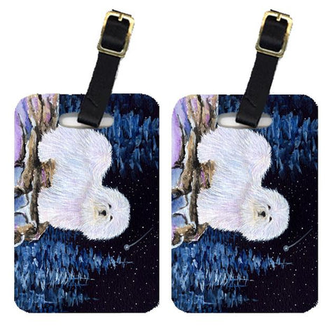 Buy this Starry Night Coton de Tulear Luggage Tags Pair of 2