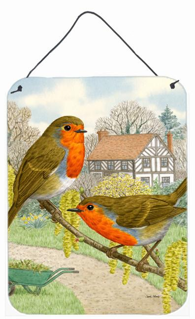 European Robins Wall or Door Hanging Prints ASA2097DS1216 by Caroline's Treasures