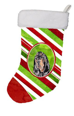 Buy this Black and Tan Coonhound Candy Cane Christmas Christmas Stocking SC9609-CS