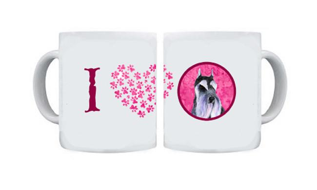 Schnauzer  Dishwasher Safe Microwavable Ceramic Coffee Mug 15 ounce SS4753 by Caroline's Treasures