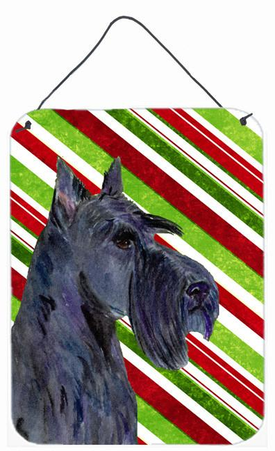 Scottish Terrier Candy Cane Holiday Christmas Wall or Door Hanging Prints by Caroline's Treasures
