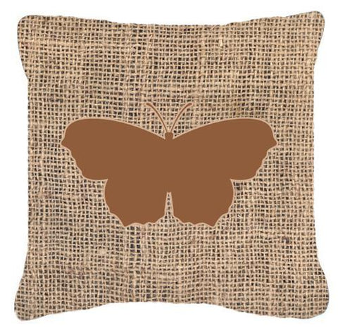 Buy this Butterfly Burlap and Brown   Canvas Fabric Decorative Pillow BB1049
