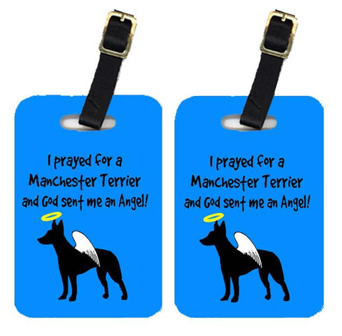 Buy this Pair of 2 Manchester Terrier Luggage Tags