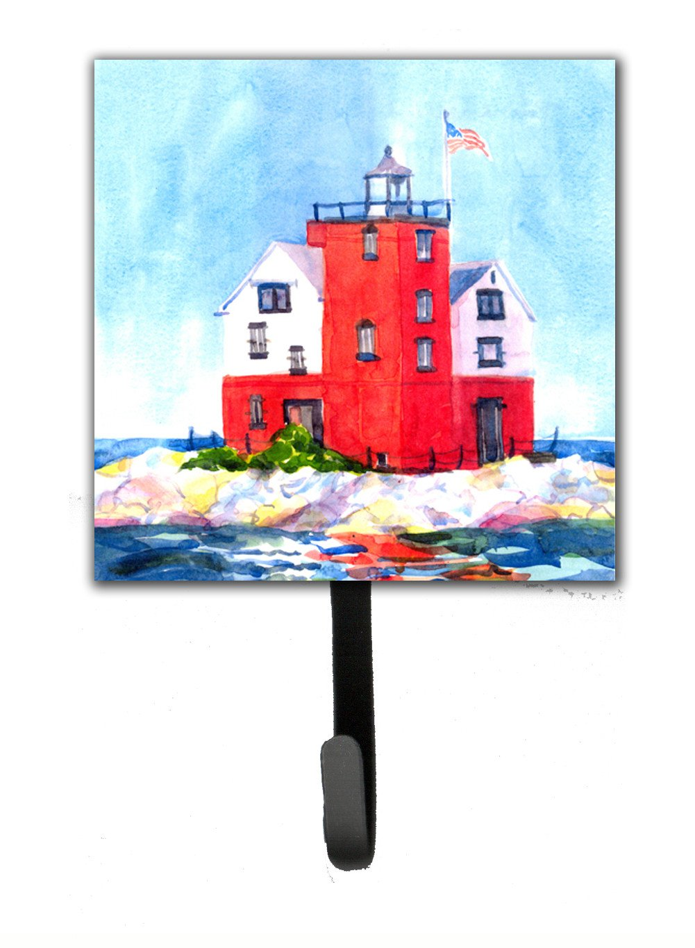 Buy this Lighthouse on the rocks Harbour Leash Holder or Key Hook
