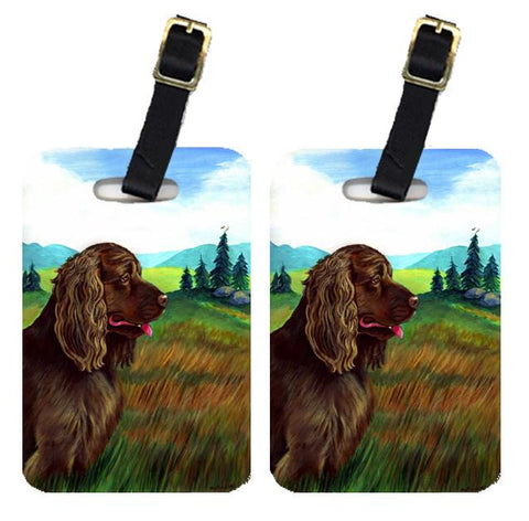 Buy this Pair of 2 Sussex Spaniel Luggage Tags