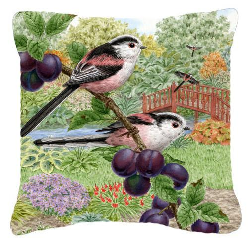 Long Tailed Tits by Sarah Adams Canvas Decorative Pillow ASAD0703PW1414 by Caroline's Treasures