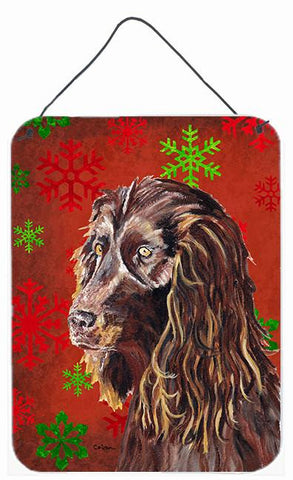 Buy this Boykin Spaniel Red Snowflake Christmas Wall or Door Hanging Prints