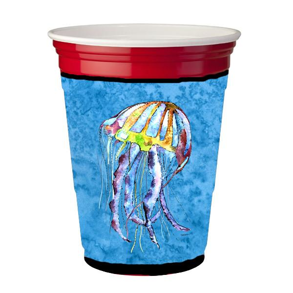 Jellyfish  Red Solo Cup Beverage Insulator Hugger by Caroline's Treasures