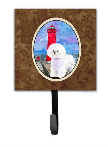 Buy this Lighthouse with Bichon Frise Leash Holder or Key Hook