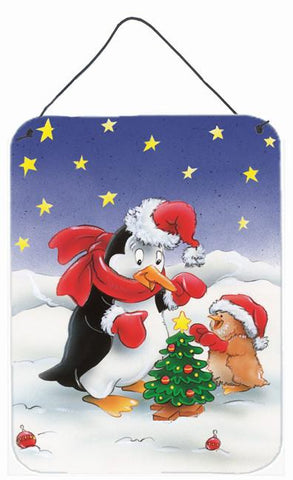 Buy this Penguin and Robin with Christmas Tree Wall or Door Hanging Prints AAH7203DS1216