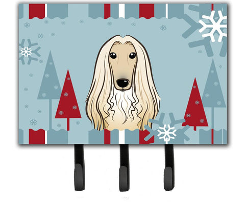 Buy this Winter Holiday Afghan Hound Leash or Key Holder BB1740TH68