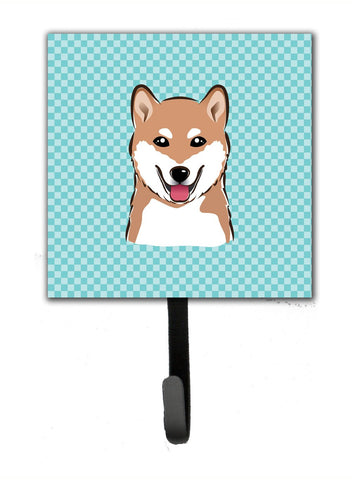 Buy this Checkerboard Blue Shiba Inu Leash or Key Holder BB1163SH4