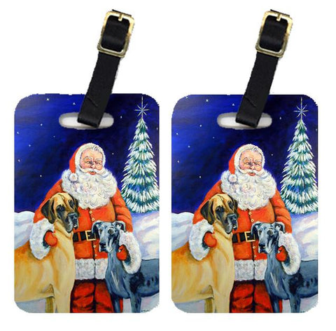 Buy this Santa Claus with Great Dane Luggage Tags Pair of 2