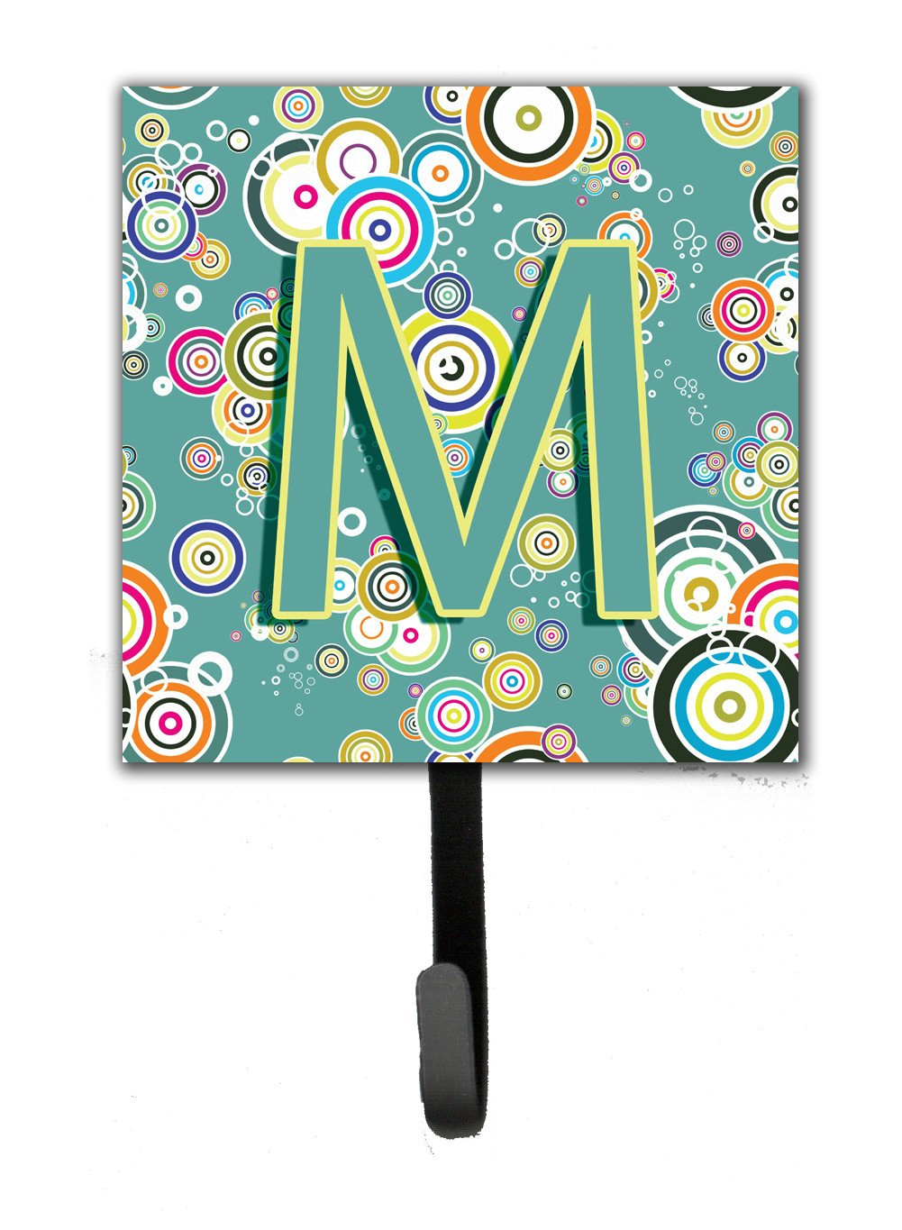 Letter M Circle Circle Teal Initial Alphabet Leash or Key Holder CJ2015-MSH4 by Caroline's Treasures