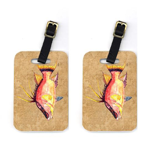 Buy this Pair of Hog Snapper Luggage Tags