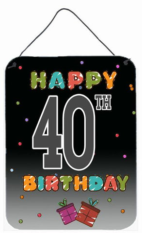 Buy this Happy 40th Birthday Wall or Door Hanging Prints CJ1123DS1216