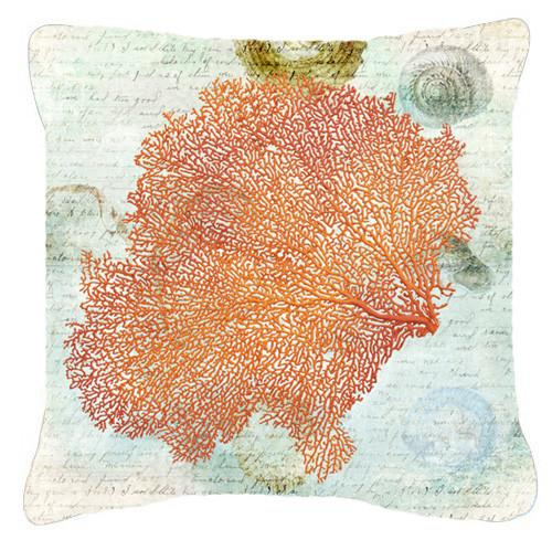 Coral Pink   Canvas Fabric Decorative Pillow - the-store.com