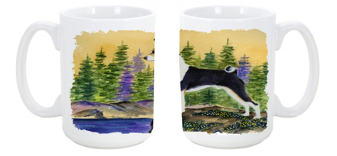 Basenji Dishwasher Safe Microwavable Ceramic Coffee Mug 15 ounce SS8201CM15 by Caroline's Treasures