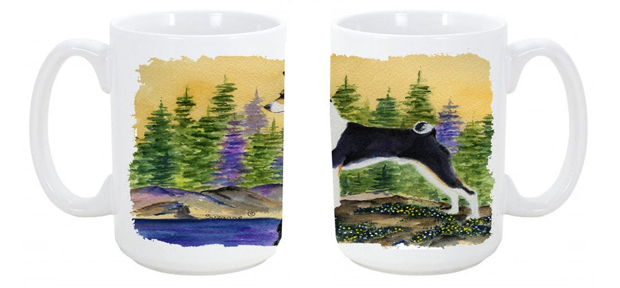 Buy this Basenji Dishwasher Safe Microwavable Ceramic Coffee Mug 15 ounce SS8201CM15