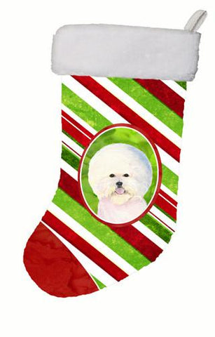 Buy this Bichon Frise Winter Snowflakes Christmas Stocking SS4595