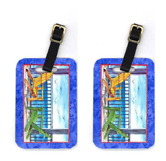 Buy this Pair of Adirondack Chairs Blue Luggage Tags