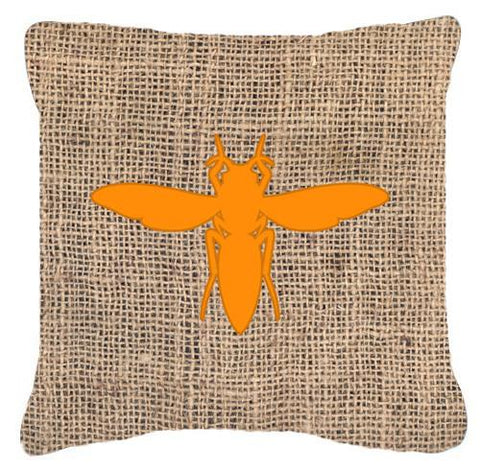 Buy this Yellow Jacket Burlap and Orange   Canvas Fabric Decorative Pillow BB1053