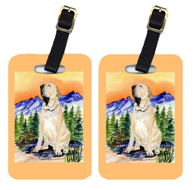 Buy this Pair of 2 Brazilian Mastiff  / Fila Brasileiro  Luggage Tags